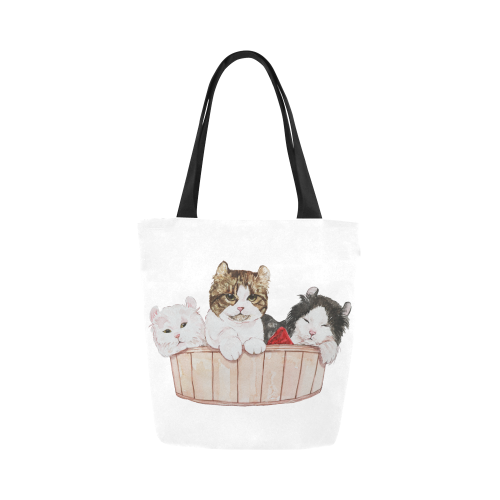 Ameria the Cat Canvas Tote Bag-Canvas Tote Bag (1657)-One Size-Kucicat