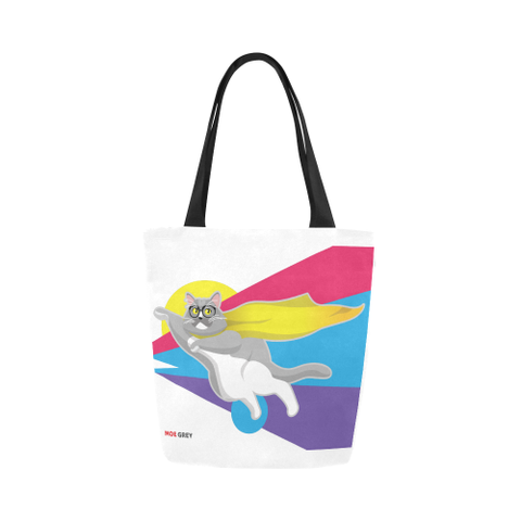 Moe Grey Flying Canvas Tote Bag-Kucicat