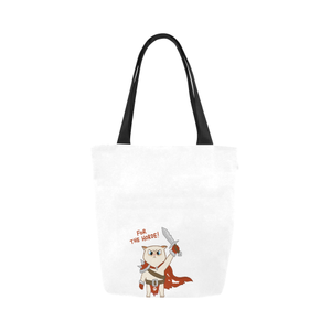 Coco Cat for the Horde Canvas Shopping Tote Bag