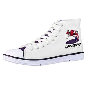 OdinSanity Official White EVA High Top Canvas shoes