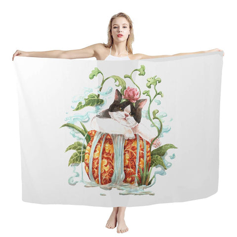 Watercatlor Zodicat Sarong Scarf Collections
