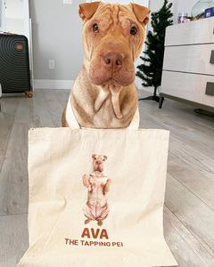Ava The Tapping Pei Canvas Tote Bag