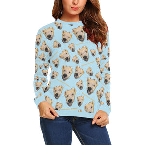 Chupey All Over Print Crewneck Sweatshirt for Women