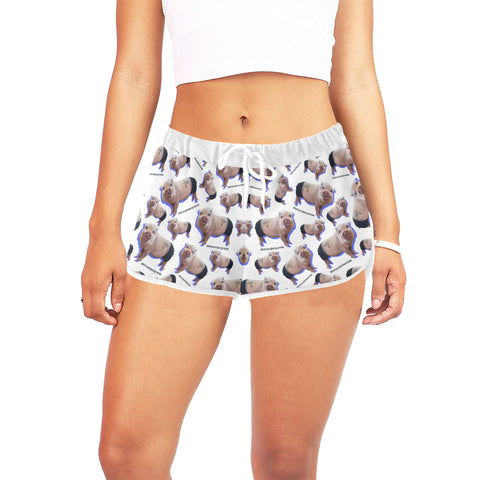 Prissy Pig Women's All Over Print Relaxed Shorts