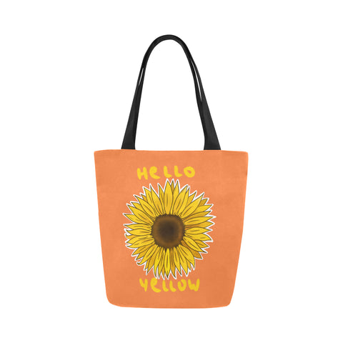 Hata Rock Hello Yellow Canvas Tote Bag-Kucicat