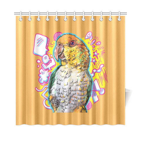 "Jalapeno Pancake Shower Curtain 72""x72"""