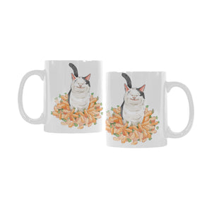Polite Cat Ollie Watercolor White Mug
