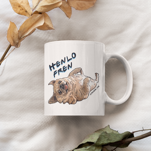 Bamei Tongue Pug 11oz Mug