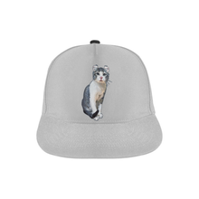Curly Snow Cat Snapback Hat