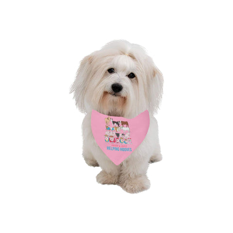 Prissy & Pop's Helping Hooves Official Pet Bandana Large Size