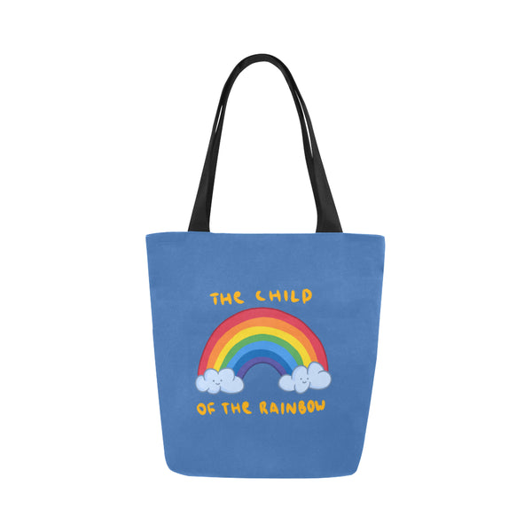 Hata Rock Rainbow Canvas Tote Bag-Kucicat