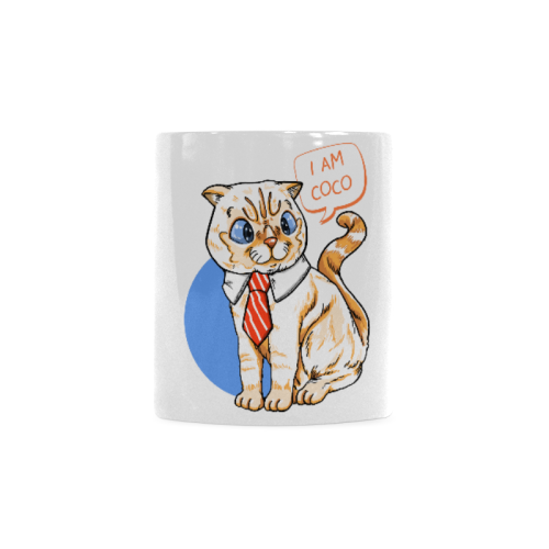 Coco Cat with Tie Mug 11oz Collections-Mug-One Size-Coco Cat and Tie White Mug(11OZ)-Kucicat