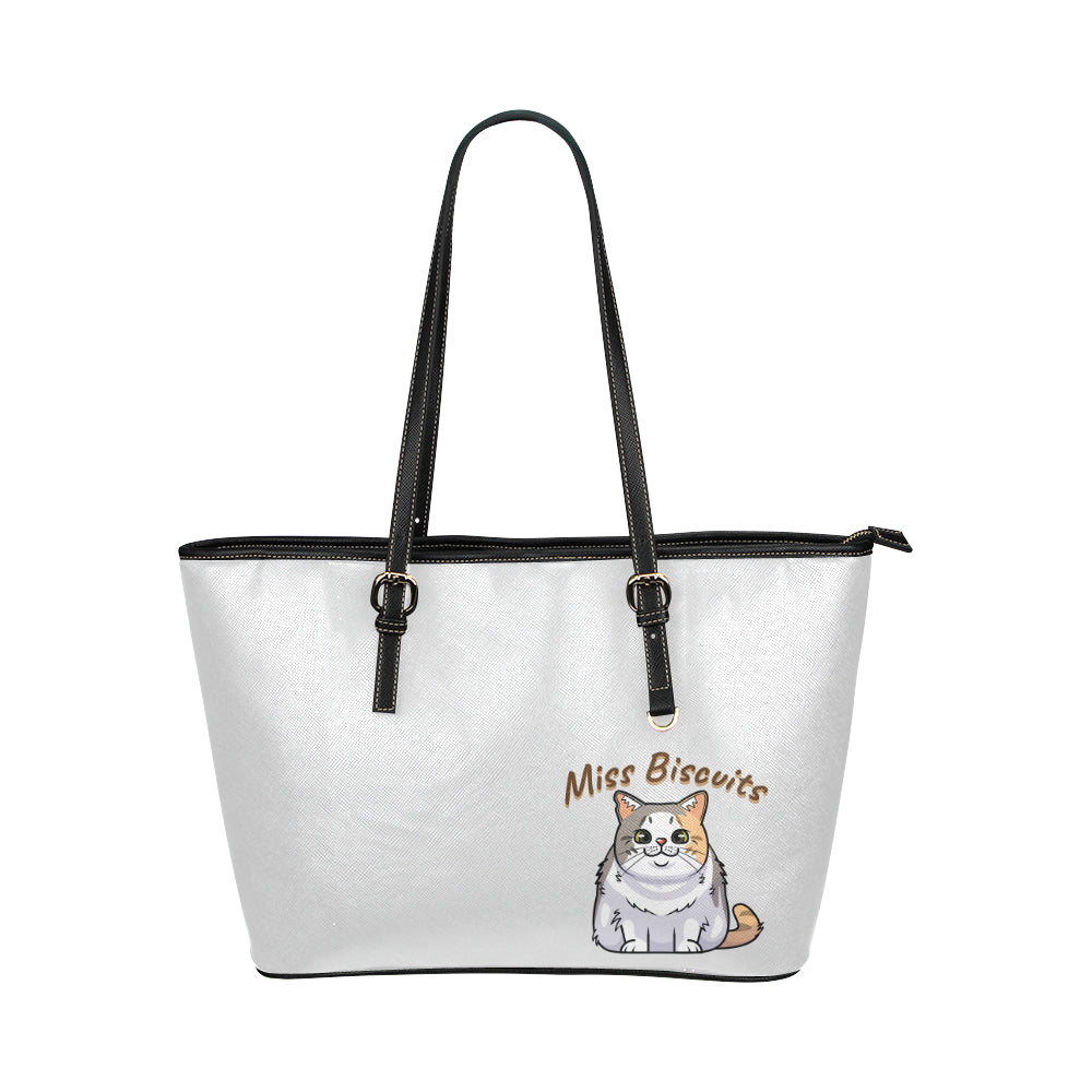 Miss Biscuits Vegan Leather Tote Bag-Kucicat