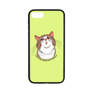 "Rexie Cat I live For Tongue Out Tuesday iPhone Case-iphone case-One Size-Rexie Cat I live For Tongue Out Tuesday Rubber Case for iPhone 8 (4.7"")-Kucicat"