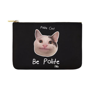 Ollie Polite Cat Be Polite Pouch