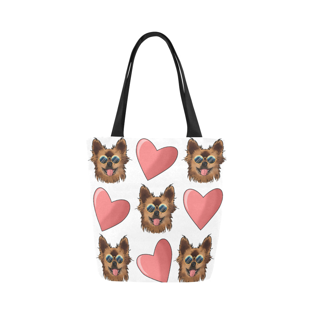 Chewie Love Pattern Canvas Tote Bag-Kucicat
