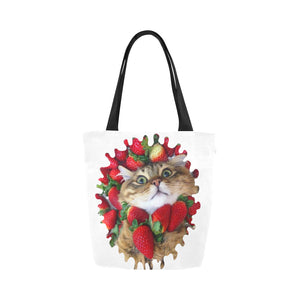 Farfor My Lulu Cat Canvas Tote Bag-Kucicat