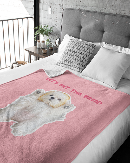 Coco The Maltese Dog Let's Get This Bread Official Blankets