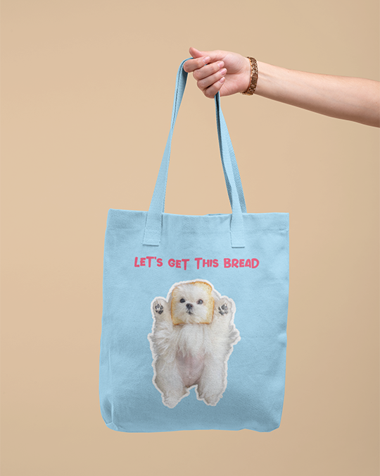 Coco The Maltese Dog Let's Get This Bread Official Canvas Tote Bag