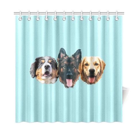 "Grizzly Bane Shower Curtain 72""x72"""