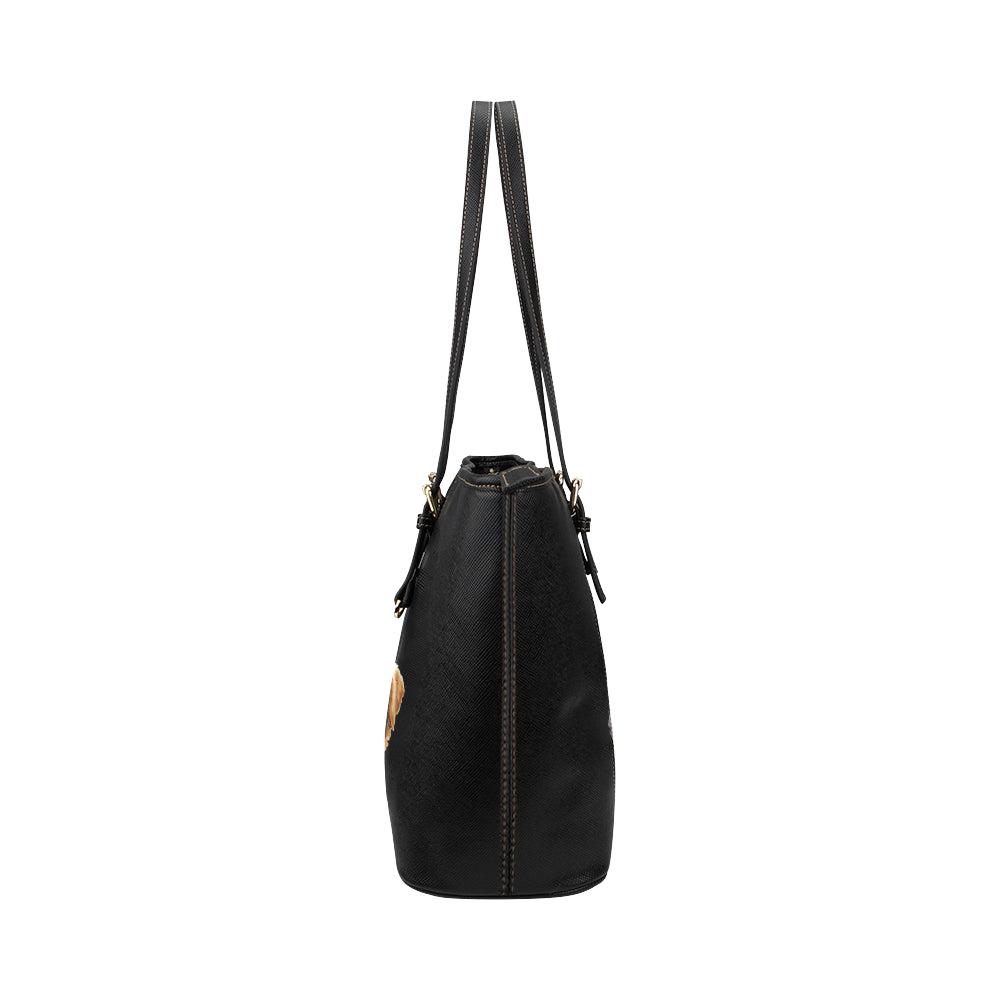 Grizzly Bane Leather Tote Bag/Small-Kucicat