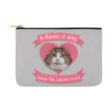 A Rexie A Day Keeps The Sadness Away Pouch-Accessory Pouches-12.5''x8.5''-A Rexie a Day Keeps the Sadness Away Carry-All Pouch 12.5''x8.5''-Kucicat