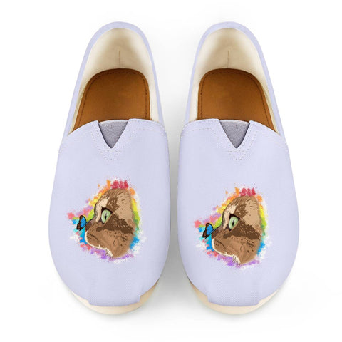 Farfor and Butterfly My Lulu Cat Official Canvas Shoes Women's Casual Shoes