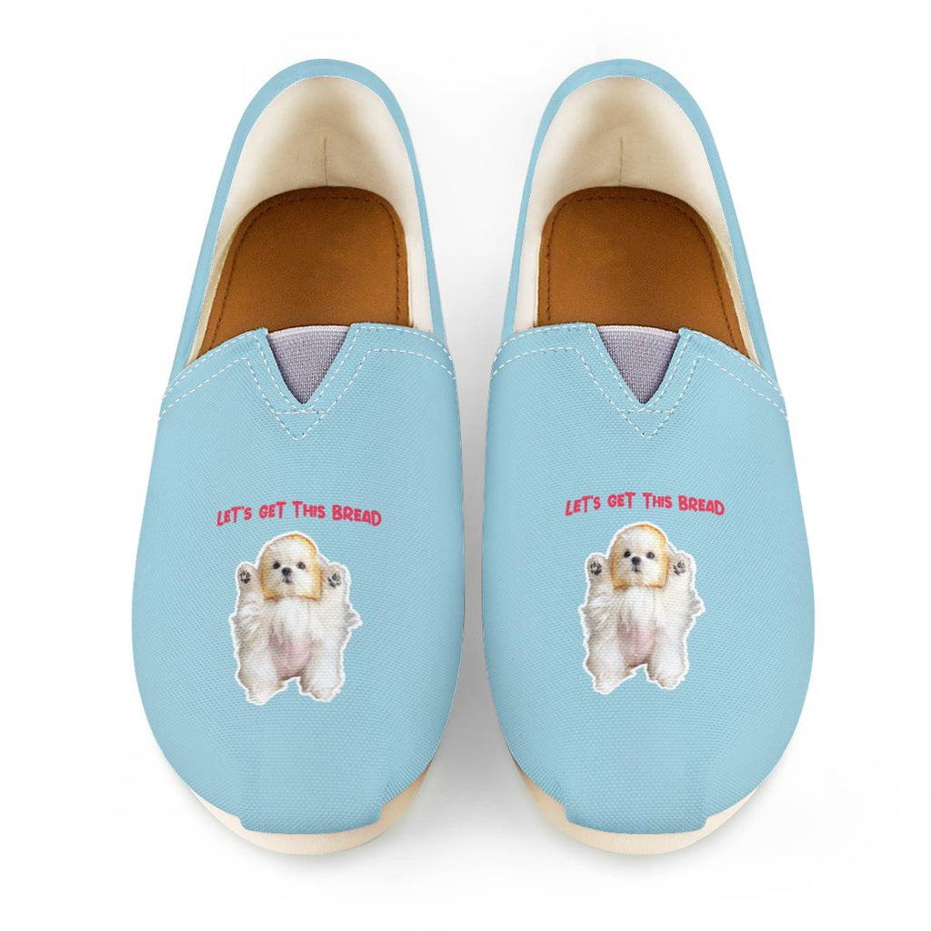 Coco The Maltese Dog Let's Get This Bread Official  Canvas Shoes Women's Casual Shoes