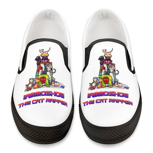 Moshow Family Black Slip On Shoes