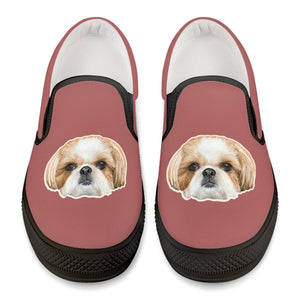 Daphne Fluff Dog Crew Official Slip Shoes Black Slip On Shoes