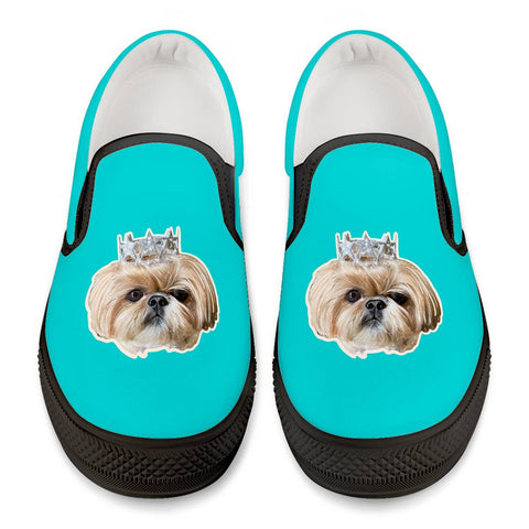 Bijou Fluff Dog Crew Official Slip Shoes Black Slip On Shoes