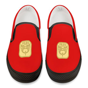 De'Anthony RUN GOLD Official Black Slip On Shoes