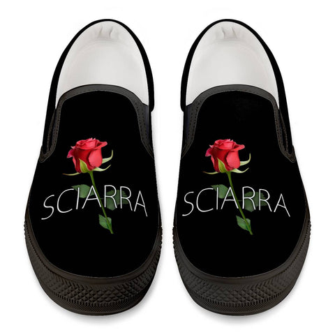 Sciarra Official Black Slip On Shoes