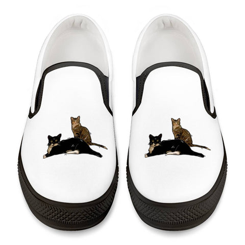 Kissy Kabu Official Black Slip On Shoes Black Slip On Shoes