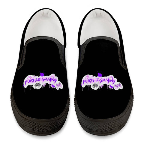 Purple Game Official Slip On Shoes Black Slip On Shoes