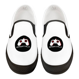 GAMRTALK Black Logo Official Black Slip On Shoes