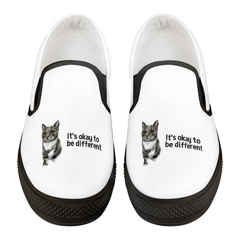The Minnie Kitty Official Black Slip On Shoes