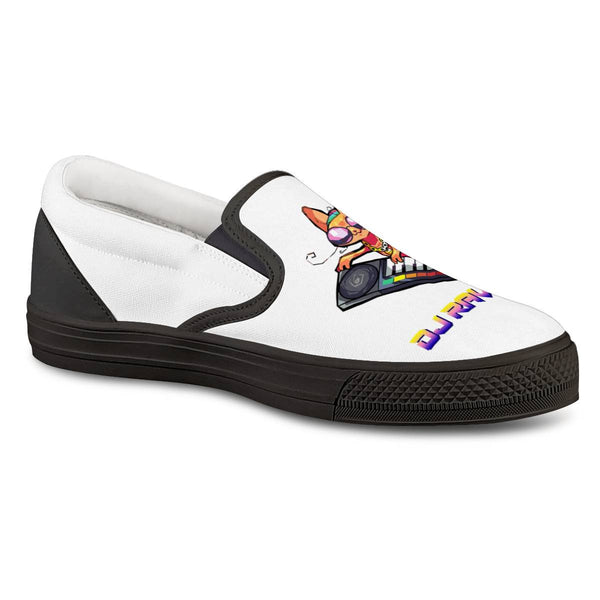 DJ Ravioli Black Slip On Shoes