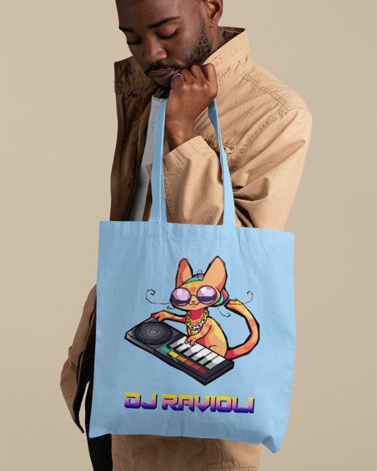 DJ Ravioli Canvas Tote Bag