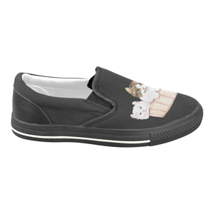 Ameria the Cat Women's Slip-on Canvas Shoes-Women's Unusual Slip-on Canvas Shoes (019)-US6-Kucicat