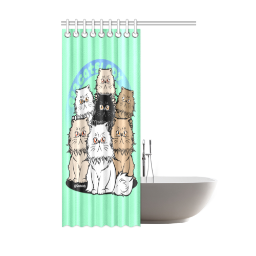 "12Catslady Shower Curtain 48""x72""-Shower Curtain 48""x72""-One Size-Kucicat"
