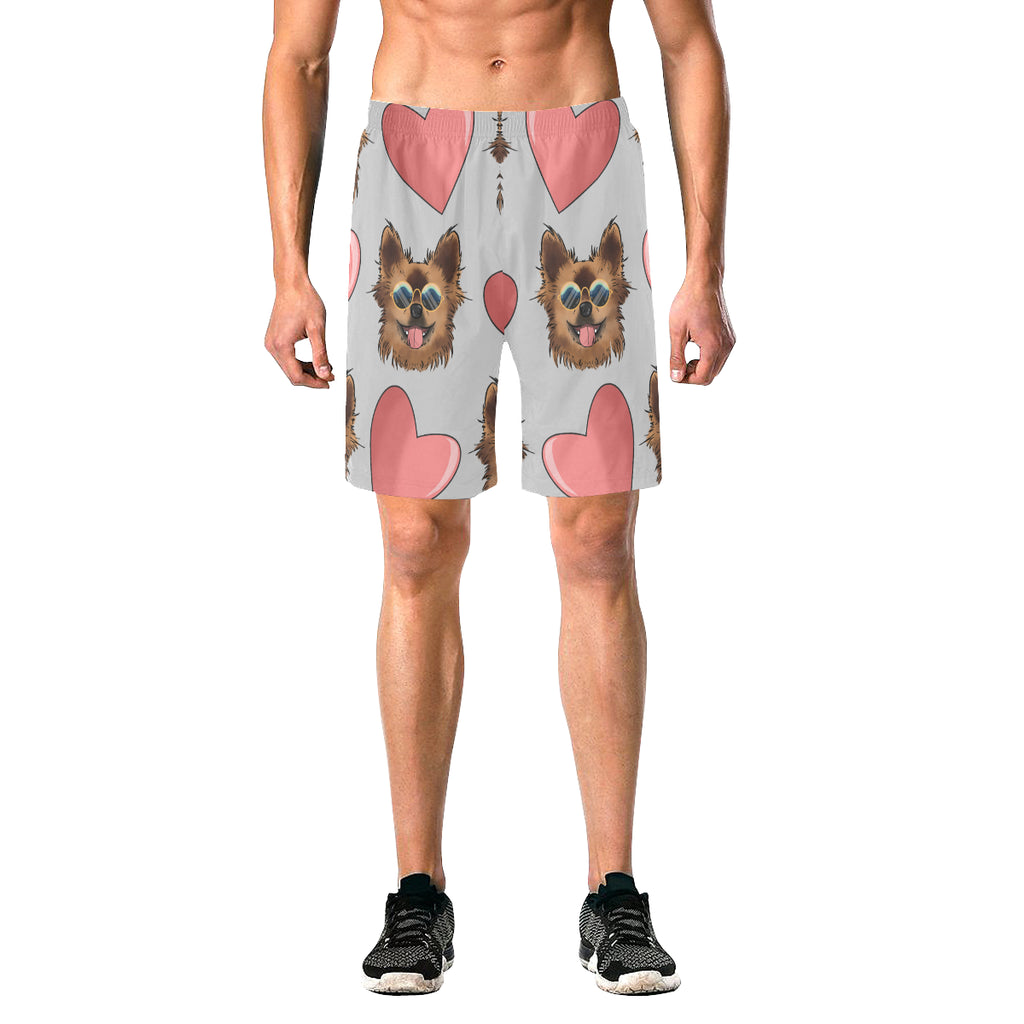 Chewie Love Pattern Men's Elastic Beach Shorts