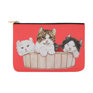 Ameria the Cat Pouch-pouch-One Size-Ameria the Cat Carry-All Pouch 12.5''x8.5''-Kucicat