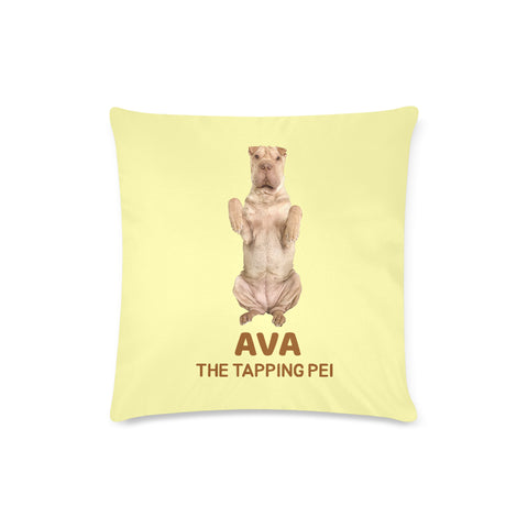 "Ava The Tapping Pei Custom Zippered Pillow Case 16""x16"" (Twin Sides)"