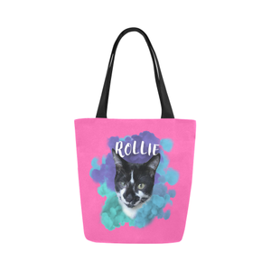 Sweet Rollie Canvas Tote Bag-Kucicat