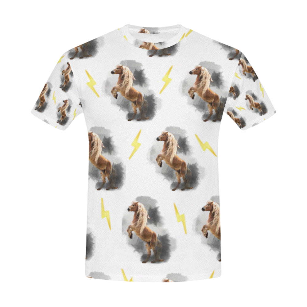 Naomi & Storm The Haflinger All Over Official Men's T-Shirt-Vardise.com