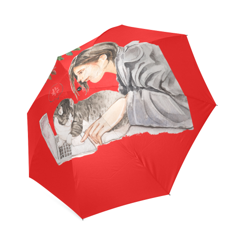 Curly Snow Foldable Umbrella-Foldable Umbrella-[Color]-[Size]-Kucicat