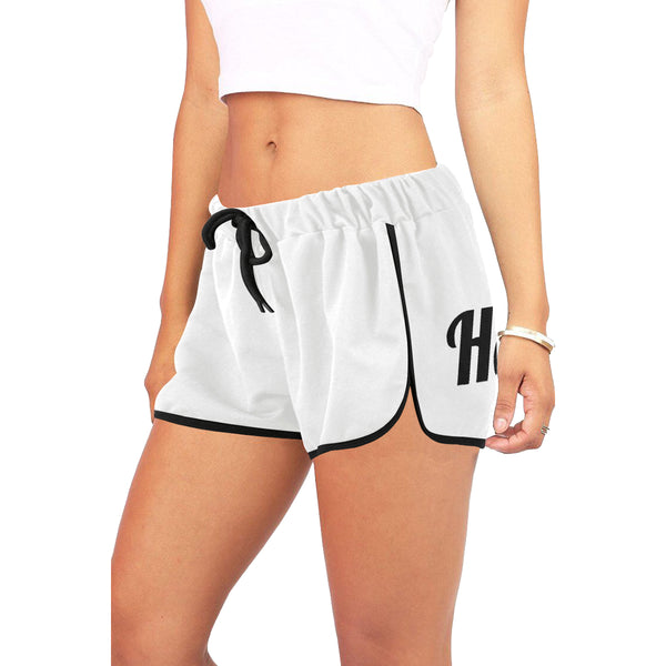 Hata Maka Black Official White Women's All Over Print Relaxed Shorts