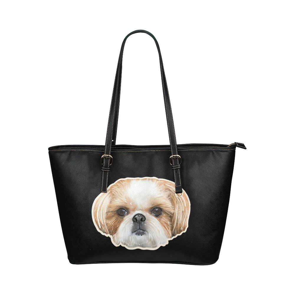 Daphne Fluff Dog Crew Official Leather Tote Bag