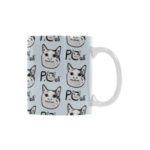 Ollie the Polite Cat White Mug(11OZ)
